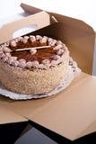 De cake van de karamel stock foto's