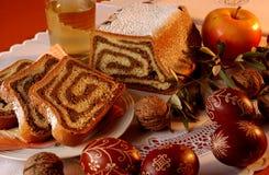 De cake van de kastanje voor Pasen stock fotografie