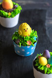 De cake van de kippenkop Royalty-vrije Stock Afbeeldingen