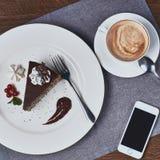 De cake van de koffie en van de chocolade Stock Afbeeldingen