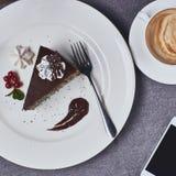De cake van de koffie en van de chocolade Royalty-vrije Stock Foto's