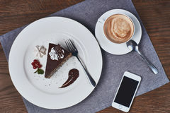 De cake van de koffie en van de chocolade Royalty-vrije Stock Afbeeldingen