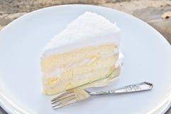 De cake van de kokosnoot Stock Foto