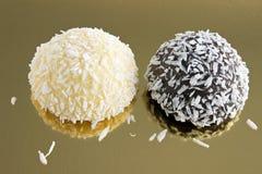 De cake van de kokosnoot Stock Foto's