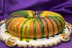 De Cake van de Koning van Gras van Mardi royalty-vrije stock fotografie