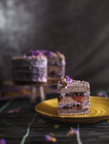 De cake van de lavendelbes royalty-vrije stock afbeelding