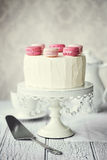 De cake van de Macaronlaag Royalty-vrije Stock Afbeelding