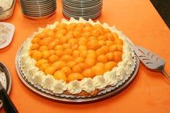 De cake van de mango torte royalty-vrije stock afbeelding
