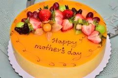 De cake van de moederdag stock fotografie