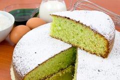 De cake van de munt en van de kokosnoot Stock Foto's