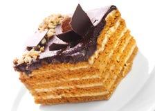 De cake van de noot royalty-vrije stock afbeelding