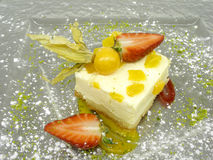 De cake van de perzik Royalty-vrije Stock Foto