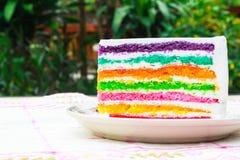 De cake van de regenbooglaag Royalty-vrije Stock Fotografie