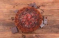 De cake van de truffelchocolade Achtergrond Royalty-vrije Stock Afbeelding