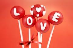 De cake van de valentijnskaart knalt Royalty-vrije Stock Fotografie