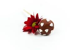 De cake van de valentijnskaart knalt Stock Foto's