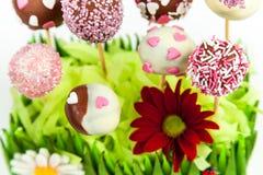 De cake van de valentijnskaart knalt Royalty-vrije Stock Foto