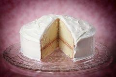 De cake van de vanille Stock Afbeelding