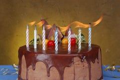 De cake van de verjaardag Royalty-vrije Stock Afbeelding