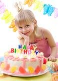 De cake van de verjaardag Stock Fotografie