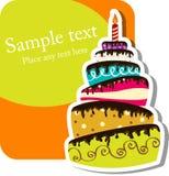 De cake van de verjaardag Royalty-vrije Stock Afbeeldingen
