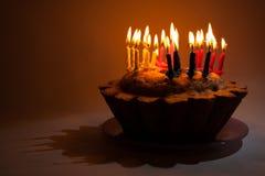 De cake van de verjaardag Stock Foto