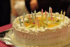 De Cake van de verjaardag Stock Afbeeldingen
