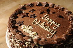 De Cake van de Verjaardag van de chocolade Royalty-vrije Stock Fotografie