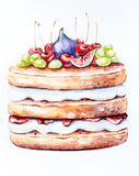 De cake van de verjaardagszomer Stock Fotografie