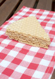 De cake van de wafel Royalty-vrije Stock Foto's