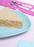 De cake van de wafel Stock Fotografie