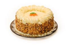 De Cake van de wortel Royalty-vrije Stock Afbeelding