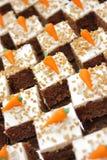 De cake van de wortel Stock Foto's