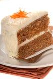 De Cake van de wortel stock foto