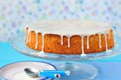 De Cake van de wortel en van de Amandel Royalty-vrije Stock Foto's