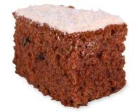 De cake van de wortel met het knippen van weg Stock Fotografie