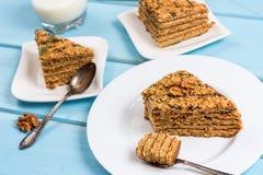 De cake van de desserthoning Stock Fotografie
