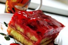 De cake van frambozen Stock Foto