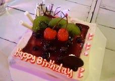 De cake van de geboortedag Stock Afbeelding