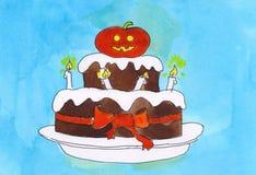 De cake van Halloween Stock Fotografie