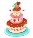 De cake van het beeldverhaal stock illustratie
