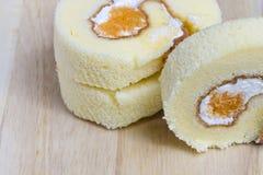 De Cake van het broodje Royalty-vrije Stock Foto's