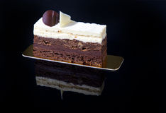 de cake van het chocoladeroomijs Stock Fotografie