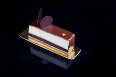 de cake van het chocoladeroomijs Stock Afbeelding