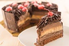 de cake van het chocoladeroomijs Stock Foto