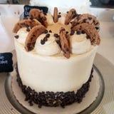 De cake van het chocoladeschilferkoekje Royalty-vrije Stock Fotografie