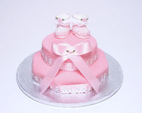De cake van het doopsel Stock Fotografie