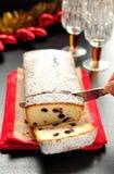 De Cake van het eiwit met Bessen Stock Afbeelding