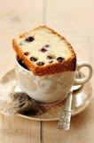 De Cake van het eiwit met Bessen Royalty-vrije Stock Afbeelding