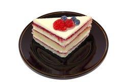 De cake van het fruit voor dessert royalty-vrije stock afbeeldingen